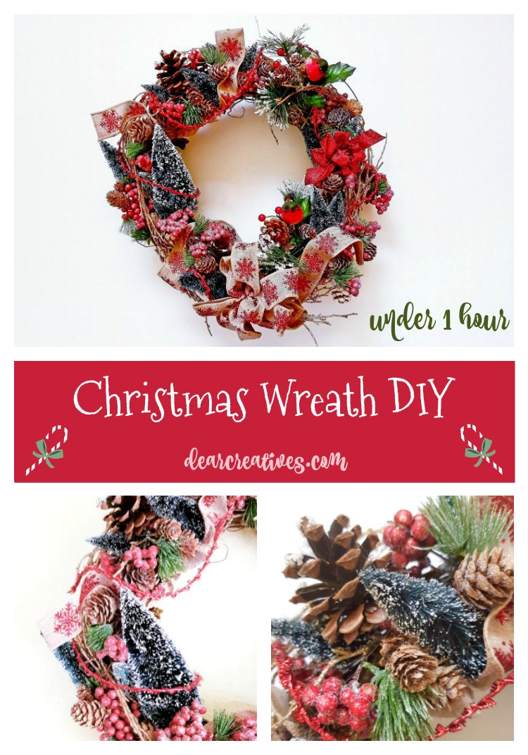 Make Your Own Christmas Wreath DIY in 1 Hour or Less!