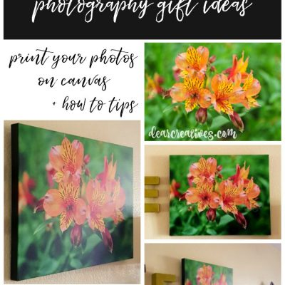 how to print photos on canvas tips, and discount to try it. Find out how easy it is to do with any of your photography. DearCreatives.com #photography #printoncanvas #printingtips #photographygiftideas #photographyoncanvas