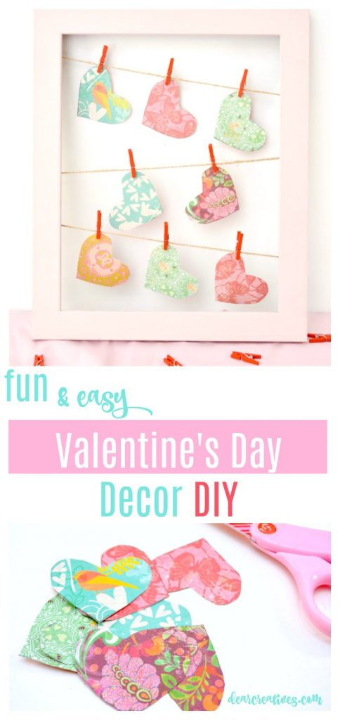 Fun, and easy Valentine's Day Home Decor DIY see how to make this for your home or for a gift. #ValentinesDay #crafts #homedecordiy see this and more easy DIYs at DearCreatives.com