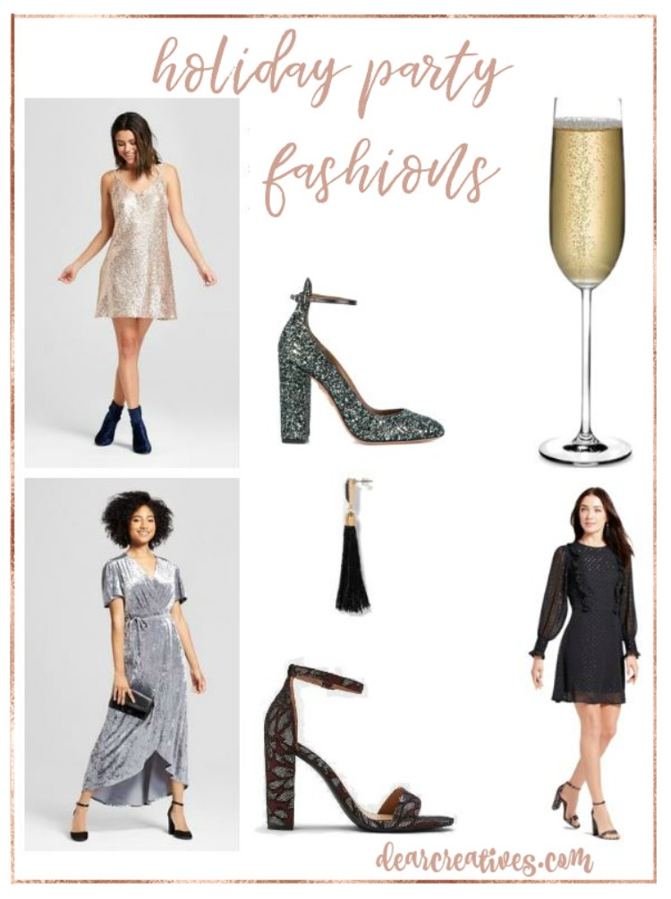 Festive and Pretty Holiday Party Dresses High Low Party Picks