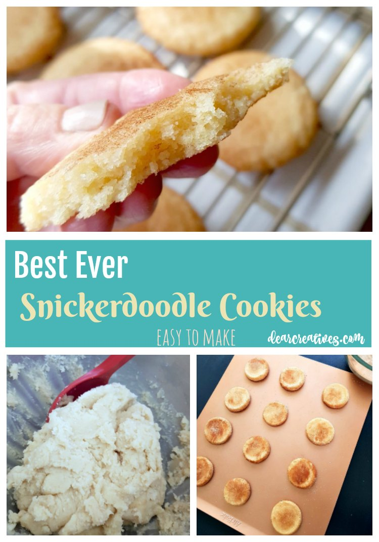 Snickerdoodle cookies recipe is a family favorite easy to make, and great for any type of party. #snickerdoodle #snickerdoodles #cookies #treatrecipes DearCreatives.com.jpg