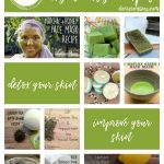 Green Tea DIY Beauty Recipes for homemade beauty products such as masks, toner, bath bombs, scrubs and more. See them all DearCreatives.com #greentea #diybeautyrecipes