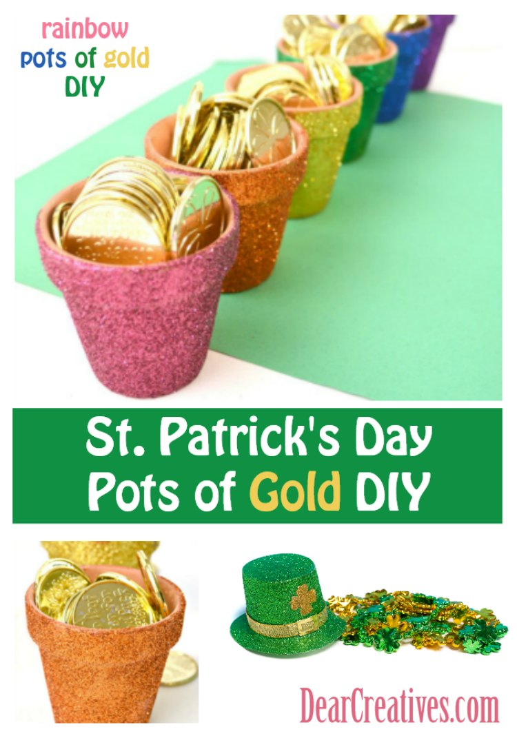 Rainbow Pots of Gold DIY – St. Patrick's Day Craft