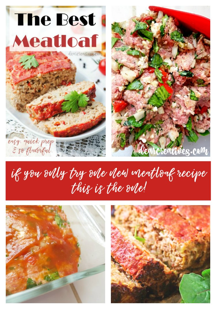 The best meatloaf #meatloaf #recipe so easy, and flavorful! Makes a great dinner. #groundbeefrecipes DearCreatives.com