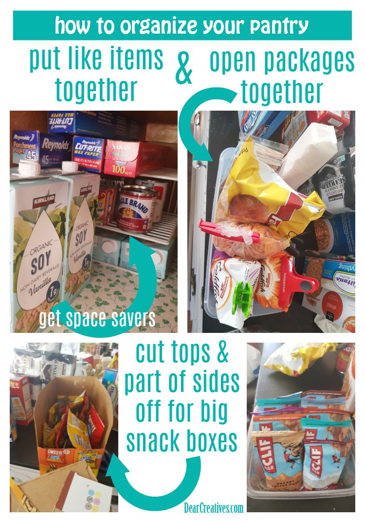 Tips for Organizing Your Pantry #pantry #homeorganization #springcleaning DearCreatives.com