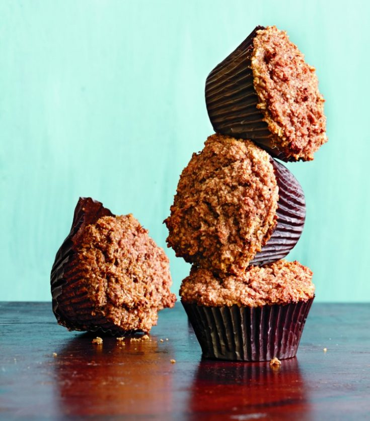 Whole-Grain Bran Muffins Recipe A healthy whole grain muffin is always a great way to start your day. This is a cookbook recipe excerpted from a cookbook I had a chance to review.#wholegrain #branmuffins