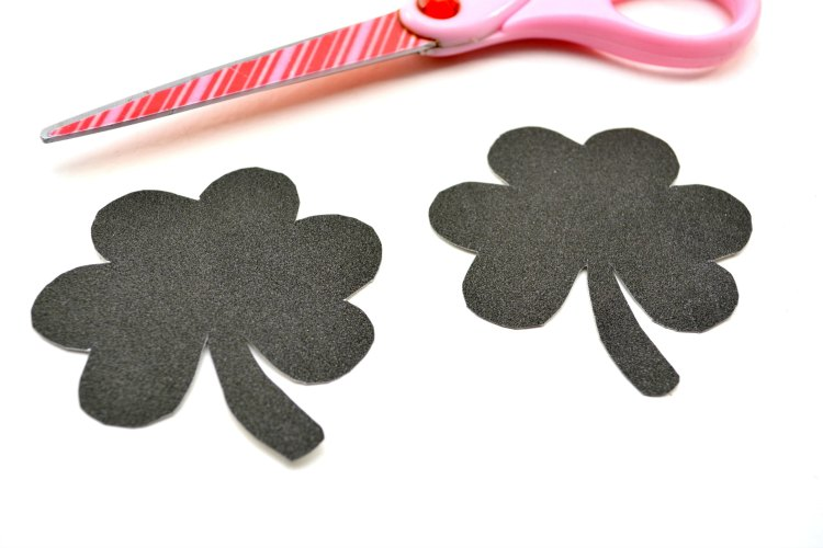 scissors and shamrock template
