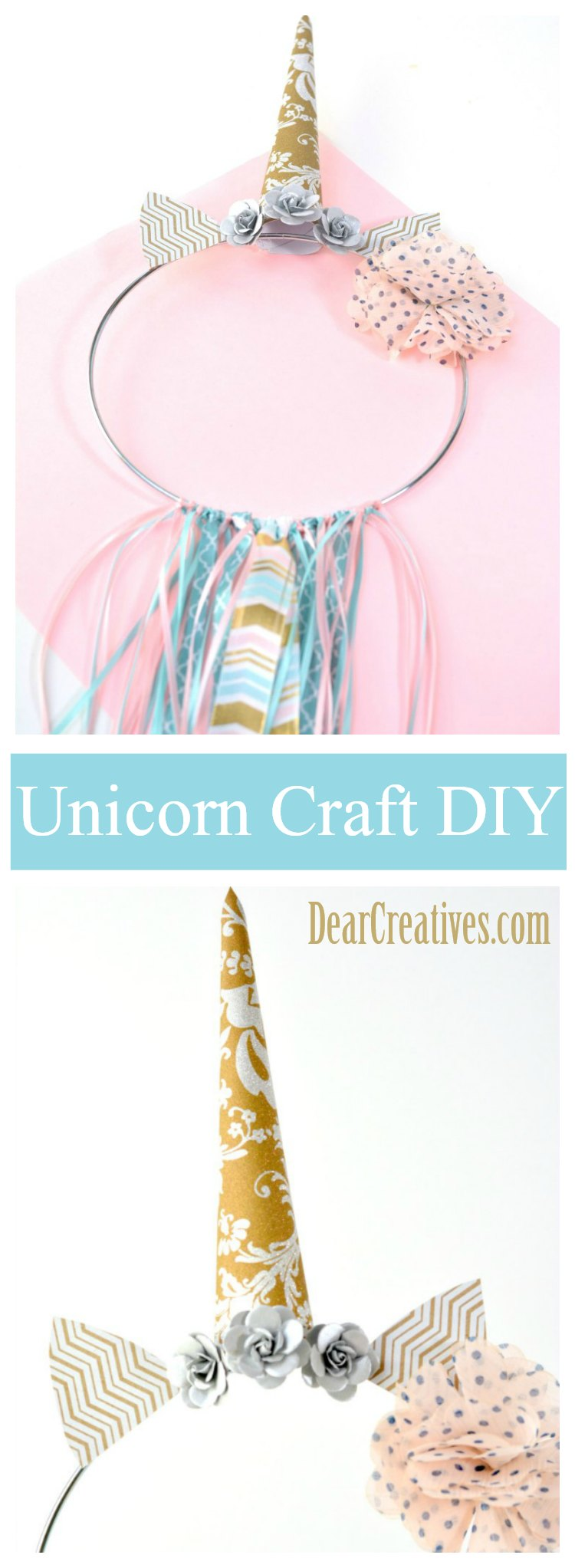 Easy to Make Unicorn Dream Catcher DIY Plus Video for Adding Webbing