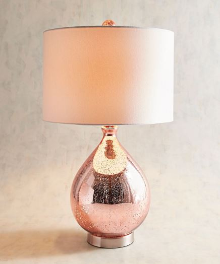 Teardrop Luxe Blush Lamp
