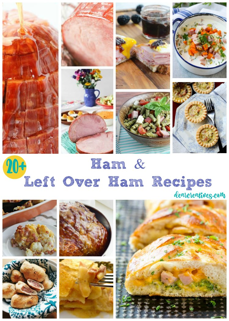 20+ Ham and Left Over Ham Recipes You'll love making and eating. These are great holiday and non holiday recipes for Ham. The best ham recipes!