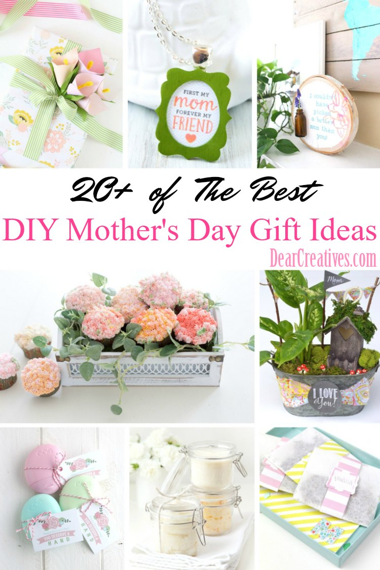 Are you looking for a DIY Mother's Day gift idea? Mother's Day DIY Gift Ideas that are easy to make, and she will really love. See them all at DearCreatives.com Make something for mom to celebrate her! #DIY #diy #MothersDayGifts #giftideas #mom #mothersday