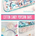 Cotton Candy Popcorn Bars is an easy treat recipe. This no bake recipe is so easy to make, let set, and cut into bite size bars. Grab the recipe, and see how to make this DearCreatives.com