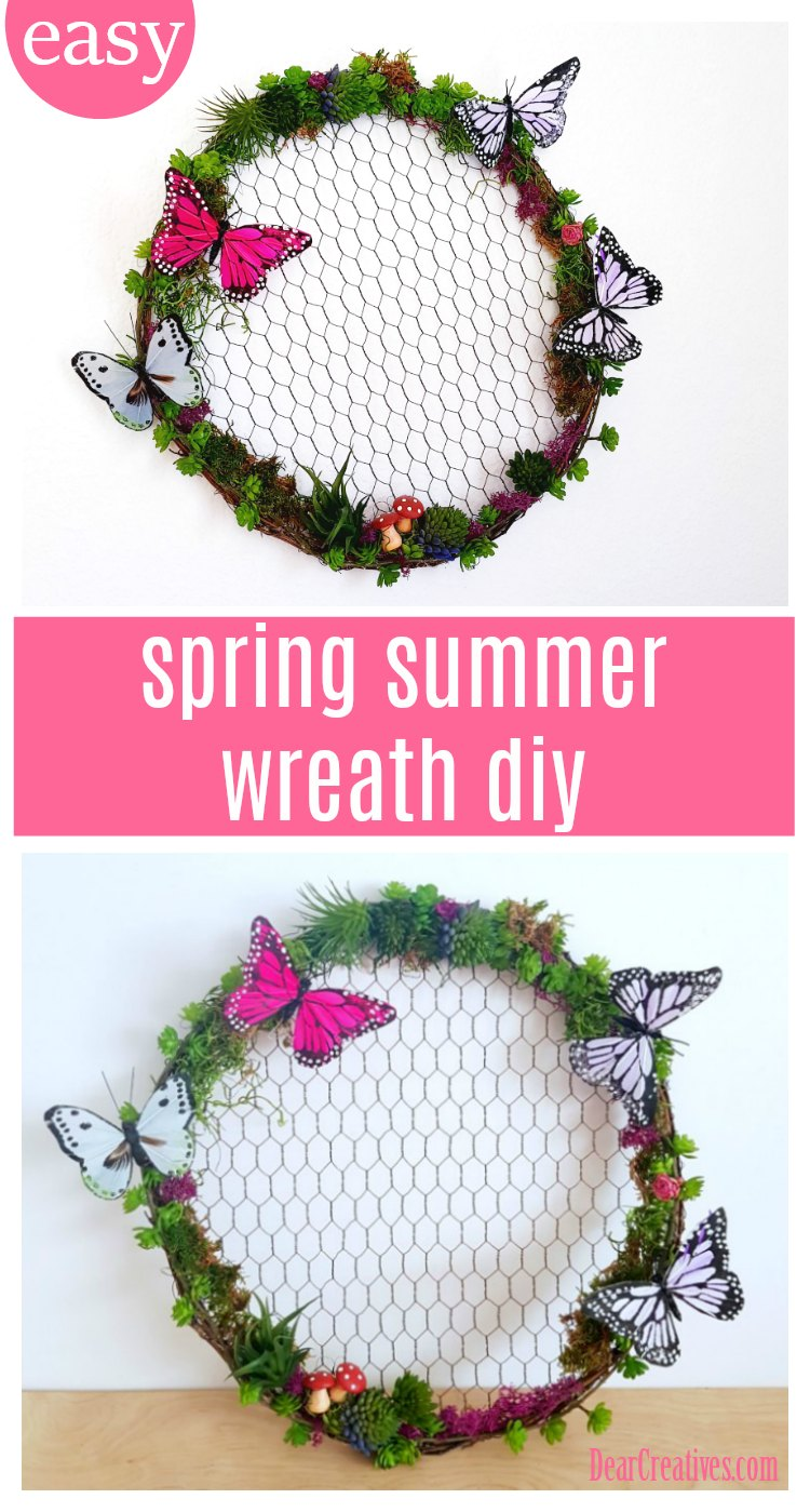 Quick and Easy Succulent Wreath DIY