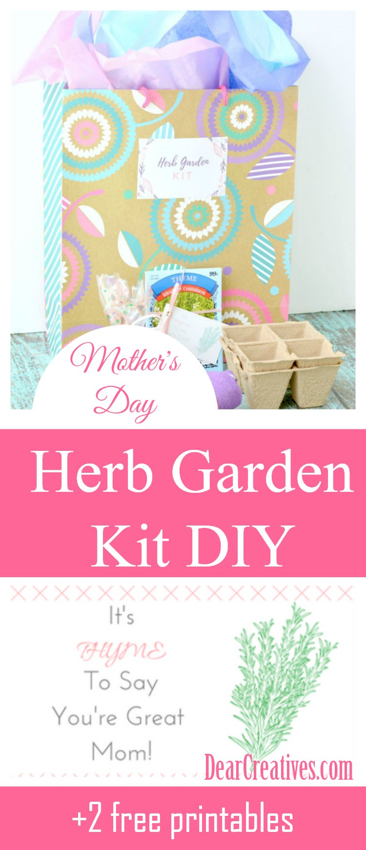 Herb Garden Kit DIY With Free Printable Tags