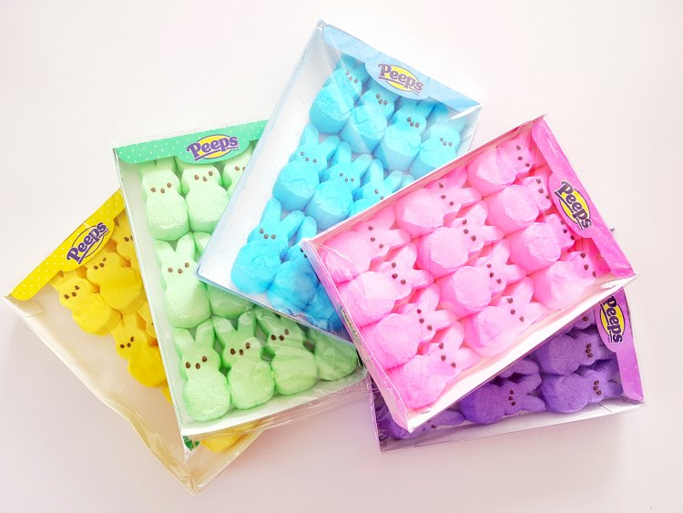 Peeps bunnies in a package for Easter baskets discount code at DearCreatives