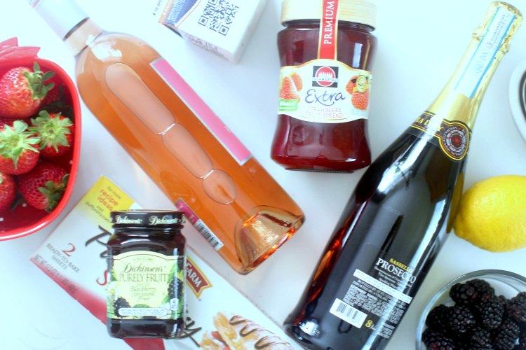 groceries from grocery outlet wine sale for a recipe, with a wine pairing. DearCreatives.com