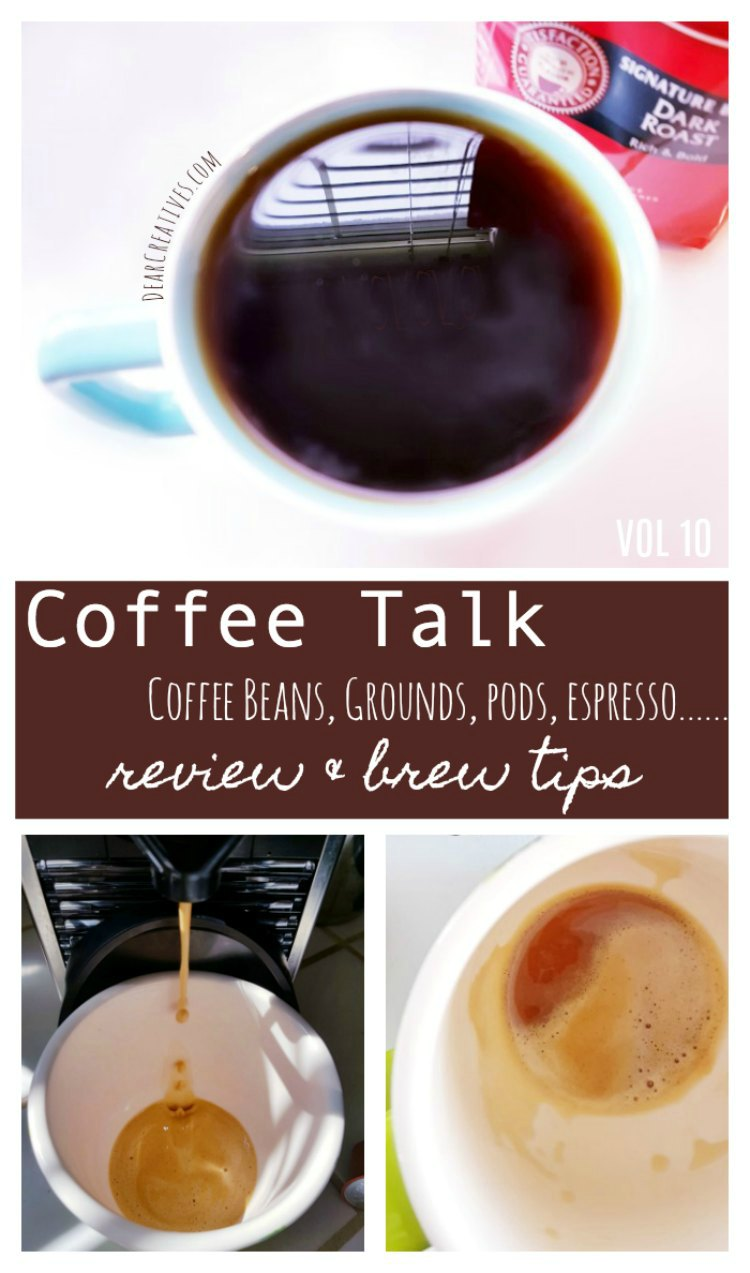 Do you enjoy the coffee lifestyle Come Join us with Coffee Talk, coffee, coffee beans, coffee grounds, pods, and espresso. Coffee brewing tips, and reviews. DearCreatives.com #coffee #coffeelovers #coffeereview #coffeegrounds #coffeebeans #coffeetotry #coffeetasting