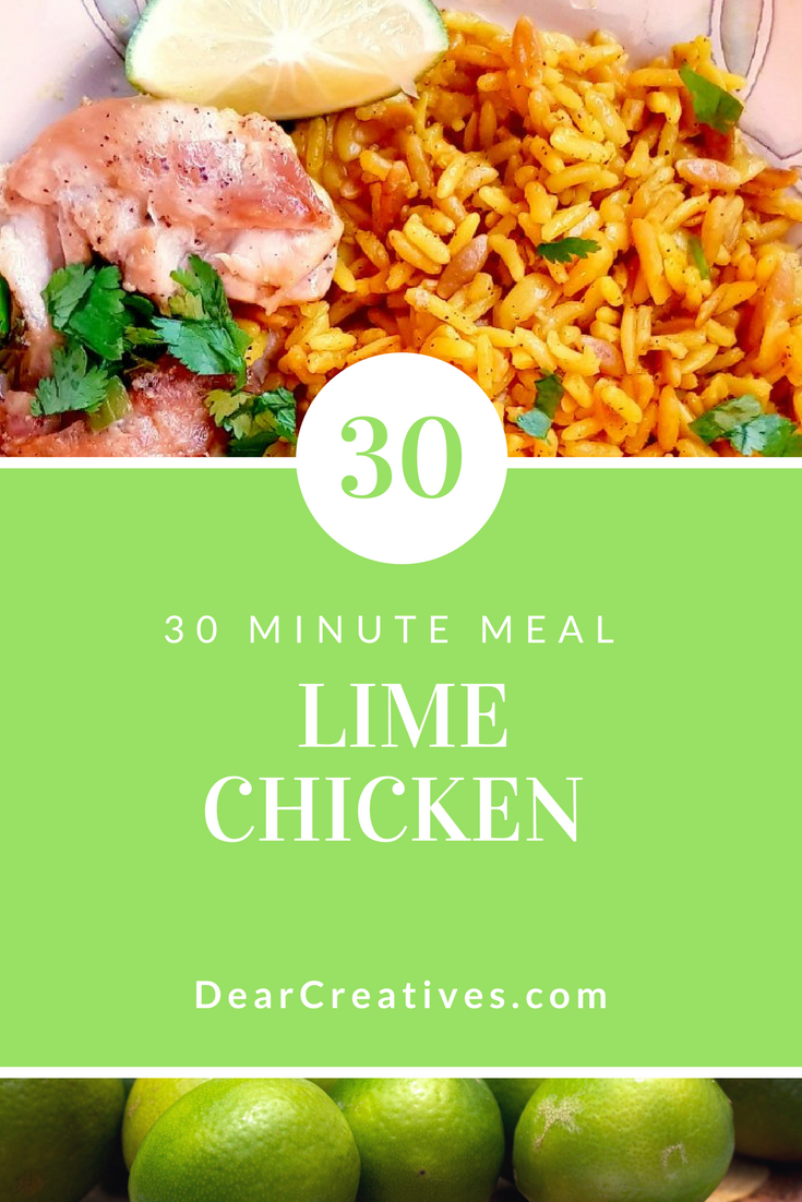 Easy Lime Chicken 30 Minute Meal Winner, Winner Chicken Dinner!