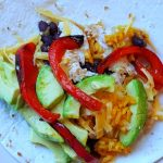 chicken fajitas this recipe can be used as tacos or burritos. We made chicken fajita tacos. rice, black beans, bell peppers...DearCreatives.com