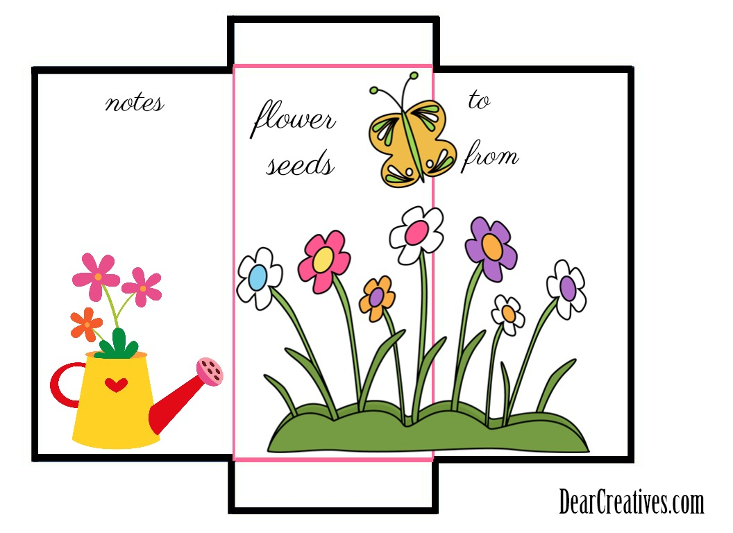 Seed Packet Envelope Template © 2018 DearCreatives.com