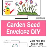 Seed Packet Template Print and make these garden seed envelopes for your flower seeds, herb seeds, and plant seeds. Easy to follow DIY #seedpackettemplate #gardendiy #seedsavers #seedenvelopes #seedpackets DearCreatives.com