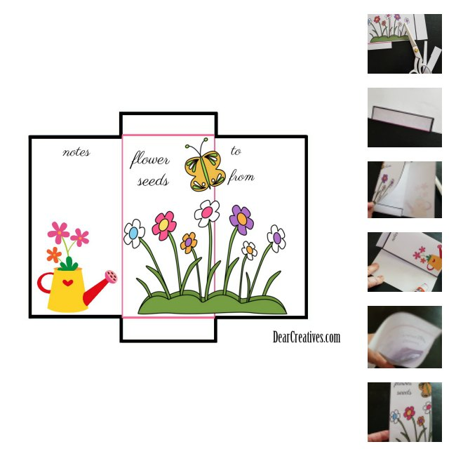 Seed Packet Template and DIY grab the free printable at DearCreatives.com this can make a great gift and seed saver.