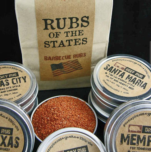 barbecue grilling rubs gift set