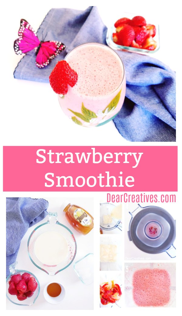 Strawberry Smoothie Recipe Plus a huge reader discount for vitamix blenders! #momsmeet #vitamix #sponsored DearCreatives.com