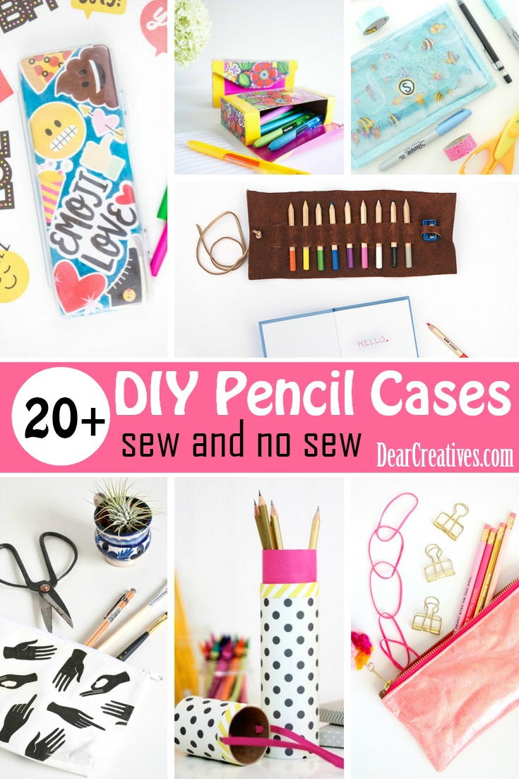 20 of The Best DIY Pencil Cases You Will Love Making!