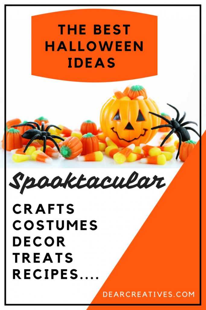 Halloween Ideas - Are you looking for the best Halloween ideas_ See hundreds of easy ideas to make such as costume ideas, crafts, decor, and recipes. Grab free Halloween printables, treat ideas, and more. DearCreatives.com #Halloween #costumes #crafts #recipes #halloweentreats #halloweencrafts #halloweendecor #decorations #halloweenideas