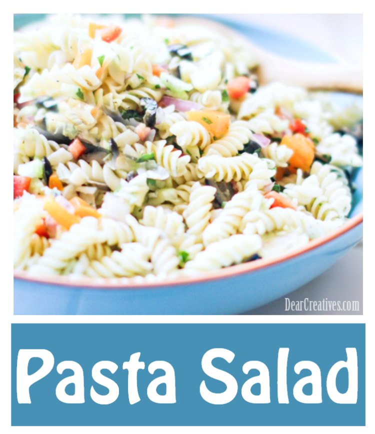 Pasta Salad Recipe - DearCreatives.com #pastasalad #pasta #salad #easy #healthy #quick #vegetarian #cold ta Salad Recipe - DearCreatives.com #pastasalad #pasta #salad #easy #healthy #quick #vegetarian #cold