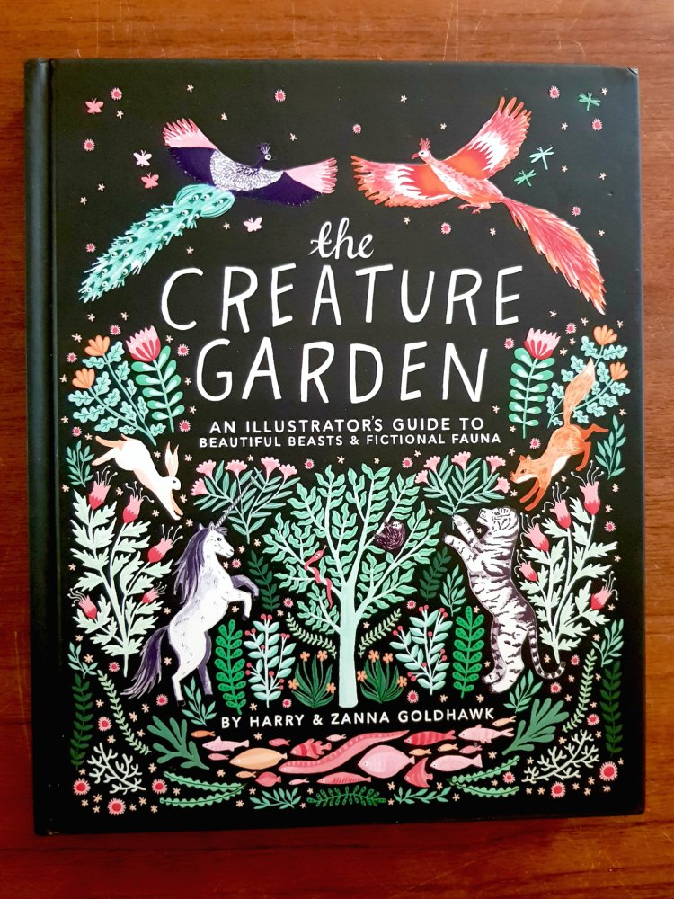 The Creature Garden by Harry & Zanna Goldhawk an art book for learning how to draw, and paint animals, mystical creatures, and fictional fauna. See art book review at DearCreatives.com