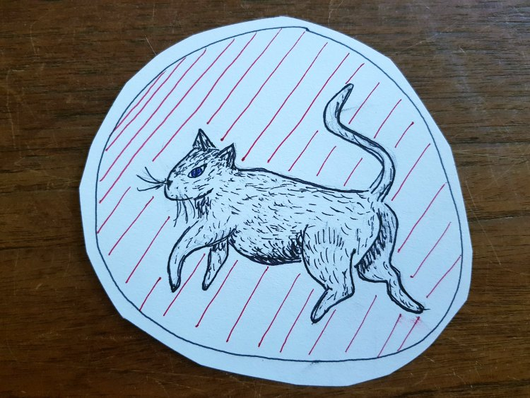 cat drawing, and patterned background from using the book The Creature Garden DearCreatives.com
