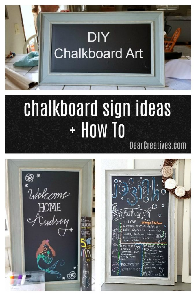 You'll love how easy it is to get started making chalkboard signs! Tips, tools, and how to make chalkboard signs for all types of signs. From hand lettered signs to signs with artwork. How to add lettering to your chalkboards easily. #chalkboardsigns #diy #chalkboardart #howto #chalkboards