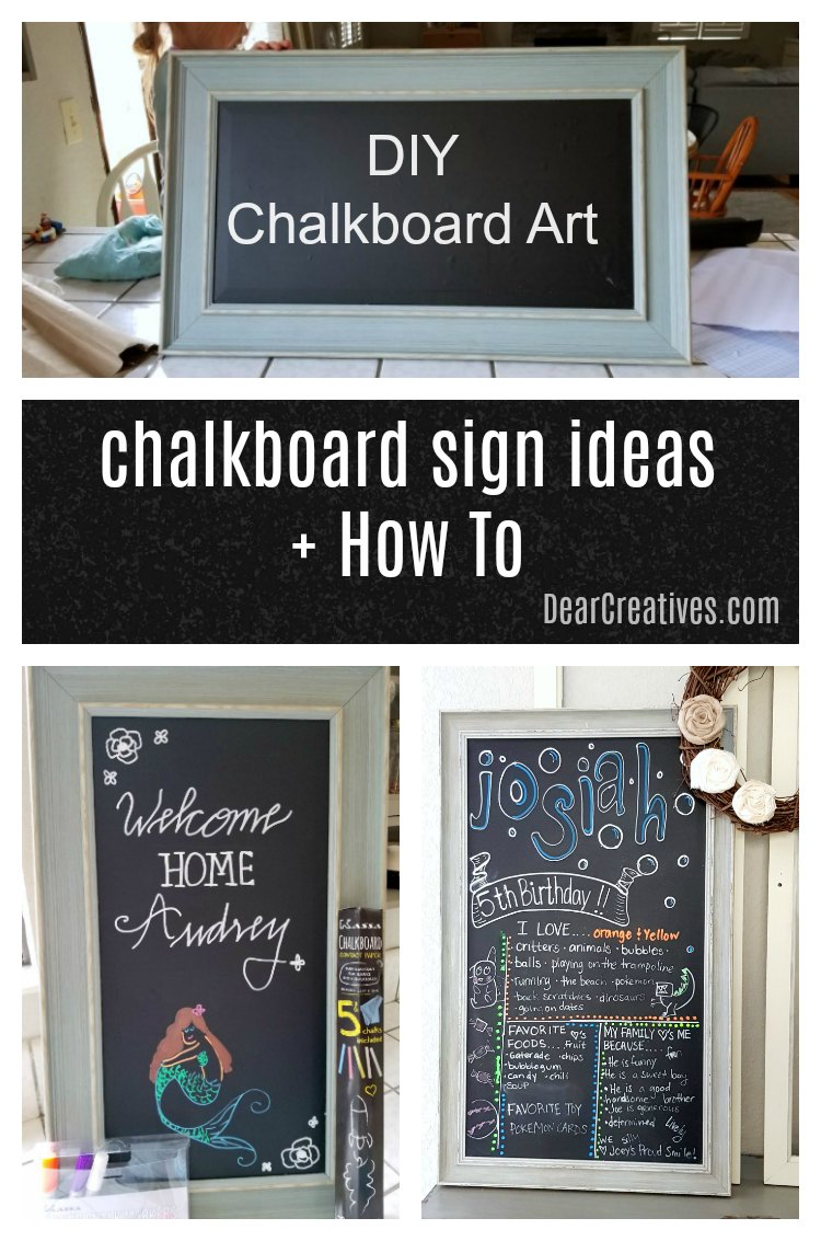 Do You Want to Make Chalkboard Art? DIY Chalkboard Signs? Start Here!
