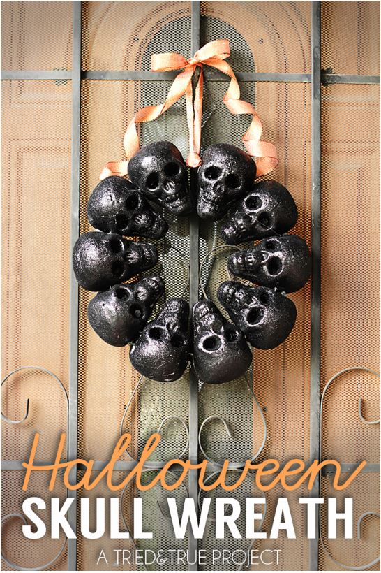 Halloween Skull Wreath via triedandtrue