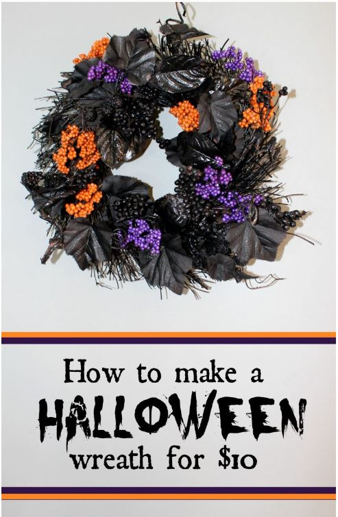 Simple Halloween Wreath via realandquirky