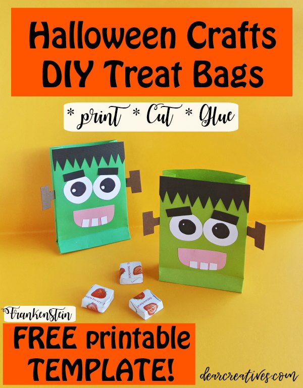 Cute And Easy Halloween Treat Bags To Make + FREE TEMPLATE