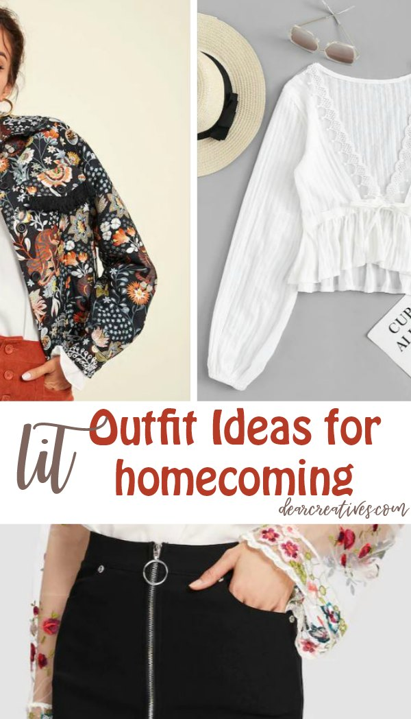 Outfit ideas for homecoming that aren't your typical outfit ideas. You can wear these ideas for other occasions and still have a lit outfit! DearCreatives.com