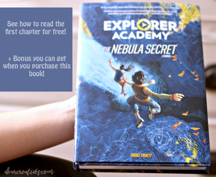 See how to read the first chapter of this novel The Nebula Secret and bonus you can get with purchase DearCreatives.com #books #kids #booksforkids #chapterbooks