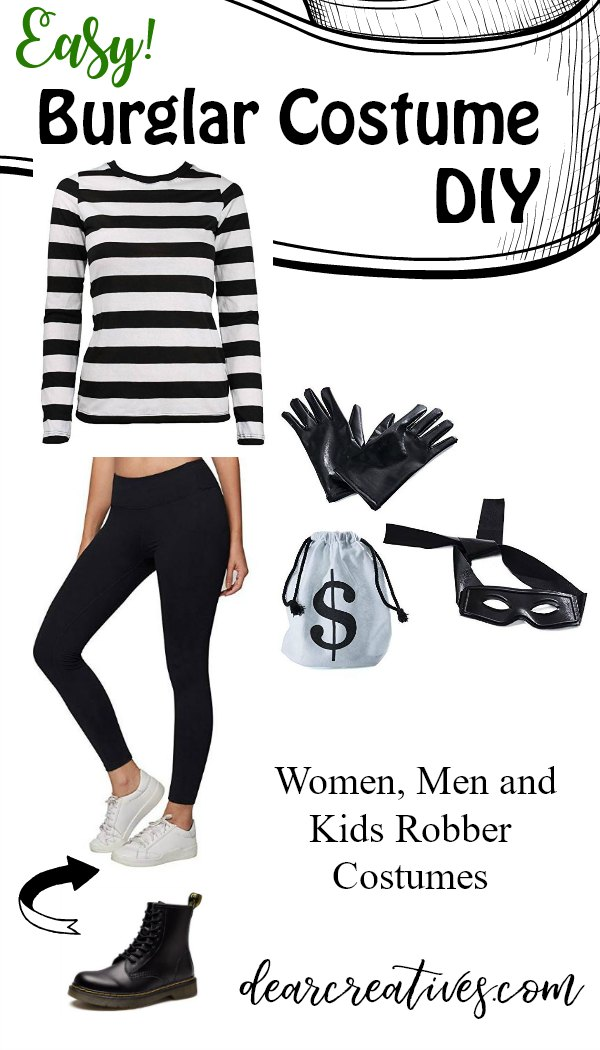 Bank Robber Costume Quick and Easy