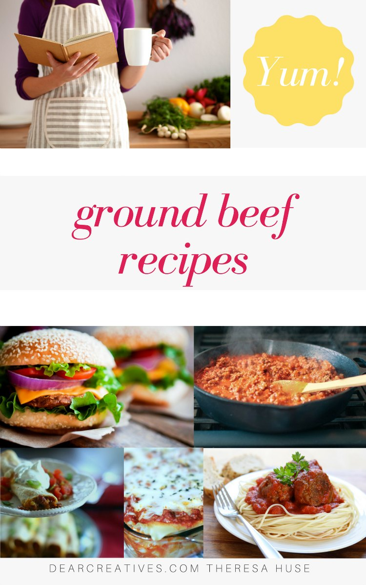 Ground Beef Recipes - These are easy dinner ideas you can make any night of the week or make ahead of time and make ahead recipes for meal planning. DearCreatives.com #groundbeefrecipes #groundbeef #recipes