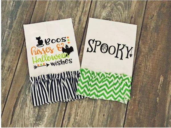 Halloween decorative kitchen towels