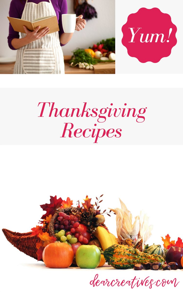 Thanksgiving recipes - Are you looking for recipe ideas, meal planning and desserts for Thanksgiving_ You have to see all these recipes, and resources for hosting Thanksgiving DearCreatives.com #thanksgiving #recipes #dinner #mealplanning #dessert #drinks #mealplan #printables #plannerset #dinnerideas