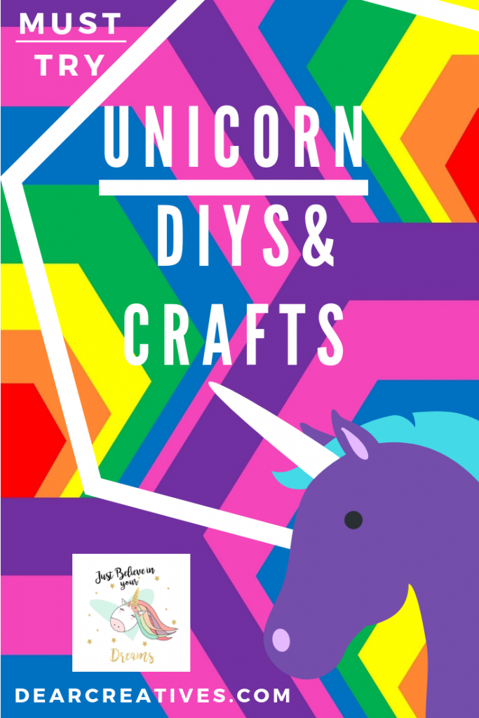 Unicorn DIYS & Crafts - Looking for all things Unicorn? This resource has so many great ideas and is always being added to. Find free unicorn templates, patterns, and unicorn ideas. A must see! #unicorndiys #unicorn #unicorncrafts #unicorngifts #unicorndiy #unicornideas #unicorngifts #dearcreatives
