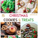 15 Christmas Cookies Recipes and Treat Recipes that are easy to make. See how to decorate cookies for Christmas. DearCreatives.com #christmascookiesrecipes #christmascookies #christmas #treats #treatrecipes #cookiesrecipes #holidaycookiesrecipes #easy #cute #festive #reindeer #snowman #wreaths #elves #mittens