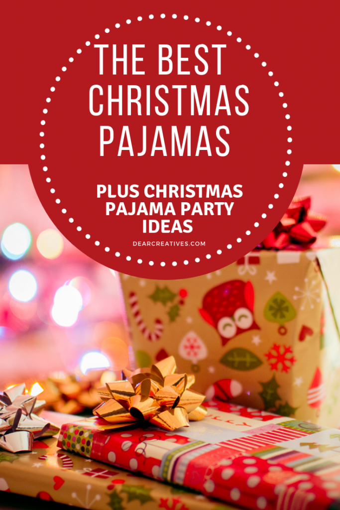 Are you looking for ideas for Christmas fun? Why not get matching pajamas for Christmas morning or throw a Christmas pajama party? These are awesome ideas and so easy! #christmas #pajamas #christmaspajamas #gifts #partyideas #fun #festive #dearcreatives
