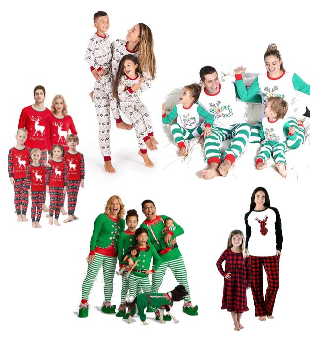 Christmas pajamas and matching pajamas on Amazon