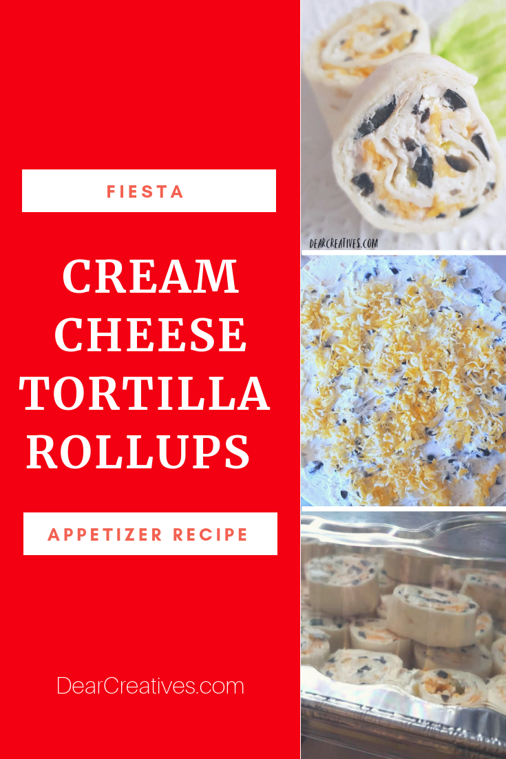Fiesta Cream Cheese Tortilla Roll Ups