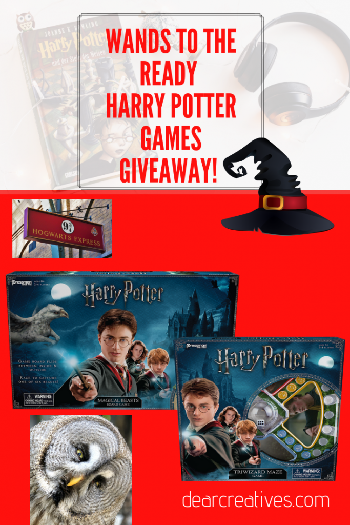 Do you know a Harry Potter fan_ You need to check out these awesome games for family night, kids game night.... Find out more at DearCreatives.com #gamenight #familygamenight #boardgames #games #fun #HarryPotter #HarryPotterfans